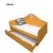 Кровать-диван детская Амстердам 2 ящика (ВхШхГ)880х1645х850