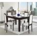 Стол раскладной №43 венге/стекло белое 750х1350/1650х850