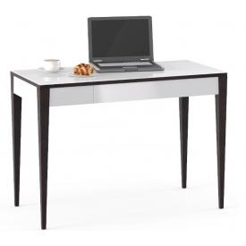 Стол Kenner-2 (ВхШхГ)780х1100х550 венге/стекло белое