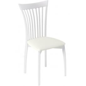 Стул Kenner-102М белый, белый кожзам