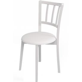 Стул Kenner-105М белый, белый кожзам