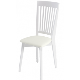 Стул Kenner-110M белый, белый кожзам