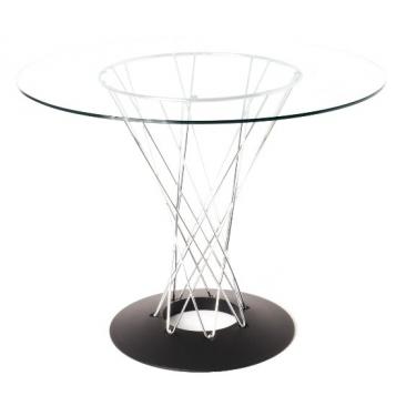 Стол Noguchi Cyclone Glass 1000мм.
