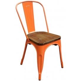 Стул Tolix Wood Orange