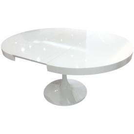 Стол Tulpan white (1000х1000+300х810)