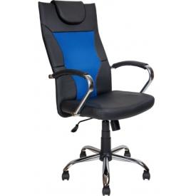 Кресло AV-134 Синий/черный