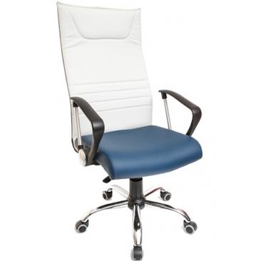 Кресло AV-113 голубой/белый