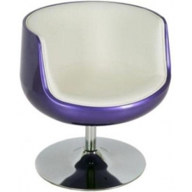 Кресло Mod-310 purple-white