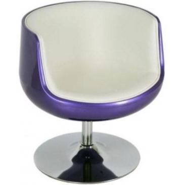 Кресло Mod-310 purple-white