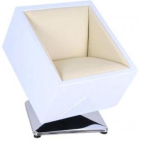Кресло Mod-404 white-vanila