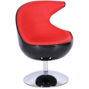 Кресло Mod-312 black-red