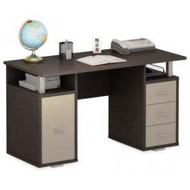 Стол ПС 40-07 венге/дуб-молочный (ВхШхГ)750х1300х600