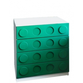 Комод Леголенд зеленый (ВхШхГ)800х800х520
