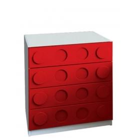 Комод Леголенд красный (ВхШхГ)800х800х520