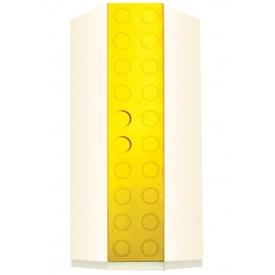 Шкаф угловой Лего желтый