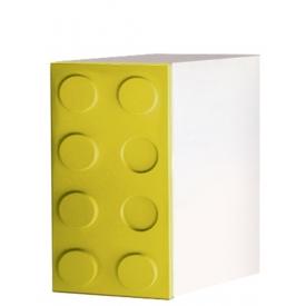 Шкаф одностворчатый Лего желтый (ВхШхГ)800х400х520