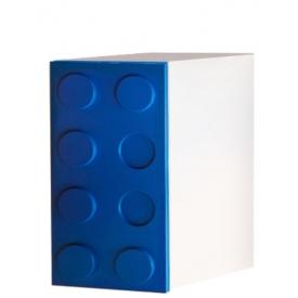 Шкаф одностворчатый Лего синий (ВхШхГ)800х400х520