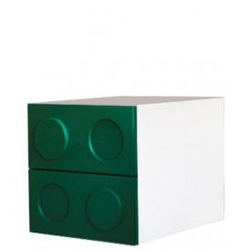 Тумбочка Леголенд зеленая (ВхШхГ)400х400х520
