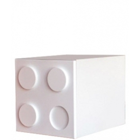 Шкаф-куб Лего белый (ВхШхГ)400х400х520