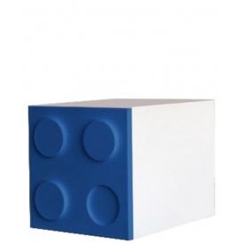 Шкаф-куб Лего синий (ВхШхГ)400х400х520