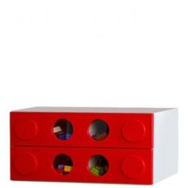 Комод малый Леголенд красный (ВхШхГ)400х800х520