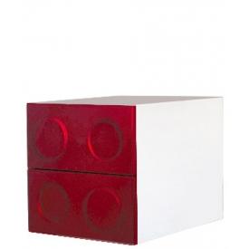 Тумбочка Леголенд красная (ВхШхГ)400х400х520