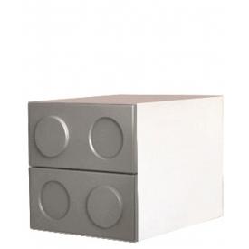 Тумбочка Леголенд серая (ВхШхГ)400х400х520