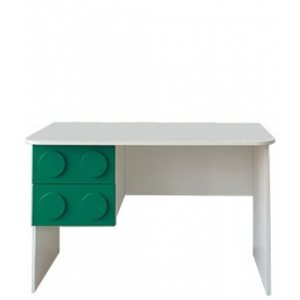Стол письменный Леголенд зеленый (ВхШхГ)750х1200х600