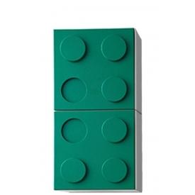 Полка навесная вертикальная зеленая (ВхШхГ)800х400х340