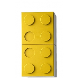 Полка навесная вертикальная желтая (ВхШхГ)800х400х340