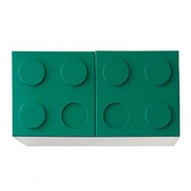 Полка навесная горизонтальная зеленая (ВхШхГ)400х800х340