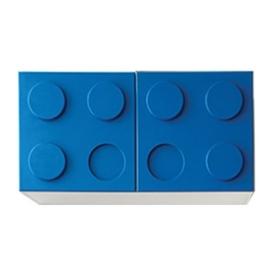 Полка навесная горизонтальная синяя (ВхШхГ)400х800х340