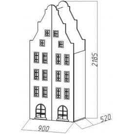 Шкаф-дом двустворчатый Амстердам