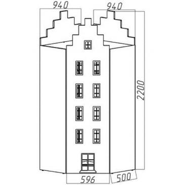 Шкаф-дом угловой Амстердам-1