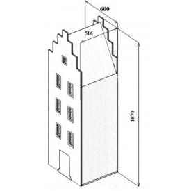 Шкаф-дом Амстердам-1 (ВхШхГ)1870х600х516