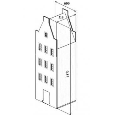 Шкаф-дом Амстердам-3 (ВхШхГ)1870х600х516