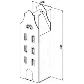 Шкаф-дом Амстердам-4 (ВхШхГ)1928х600х516