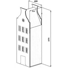 Шкаф-дом Амстердам-5 (ВхШхГ)1870х600х516