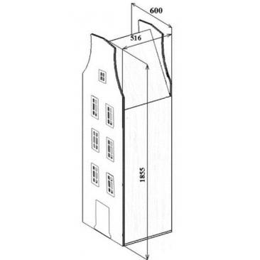 Шкаф-дом Амстердам-6 (ВхШхГ)1855х600х516