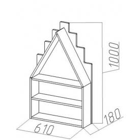 Полка-домик Амстердам-1 (ВхШхГ)1000х610х180