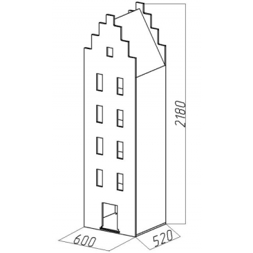 Шкаф-дом XL Амстердам-1 (ВхШхГ)2180х600х520