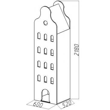 Шкаф-дом XL Амстердам-2 (ВхШхГ)2180х600х520