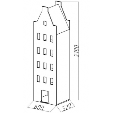 Шкаф-дом XL Амстердам-3 (ВхШхГ)2180х600х520