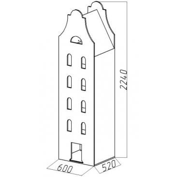 Шкаф-дом XL Амстердам-4  ВхШхГ)2240х600х520