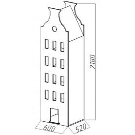 Шкаф-дом XL Амстердам-5 (ВхШхГ)2180х600х520