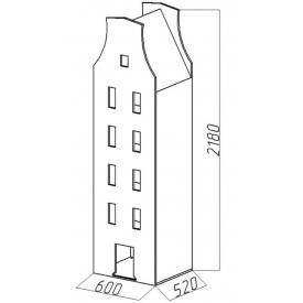 Шкаф-дом XL Амстердам-6 (ВхШхГ)2180х600х520