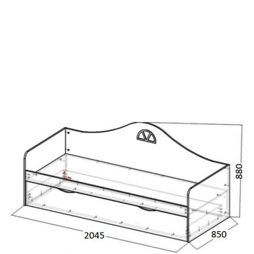 Кровать-диван подростковая Амстердам доп.место