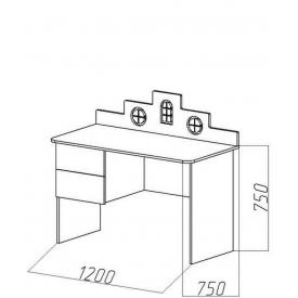 Стол письменный Амстердам (ВхШхГ)750х1200х750