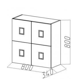 Полка-квадрат-4 Амстердам (ВхШхГ)800х800х340