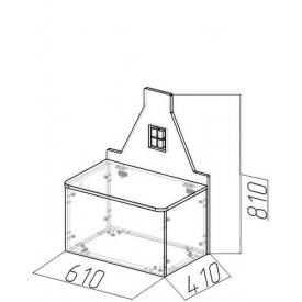 Лавочка-домик Амстердам-3 (ВхШхГ)810х610х410